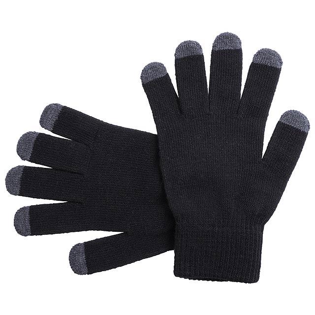 Tellar dotykové rukavice - černá