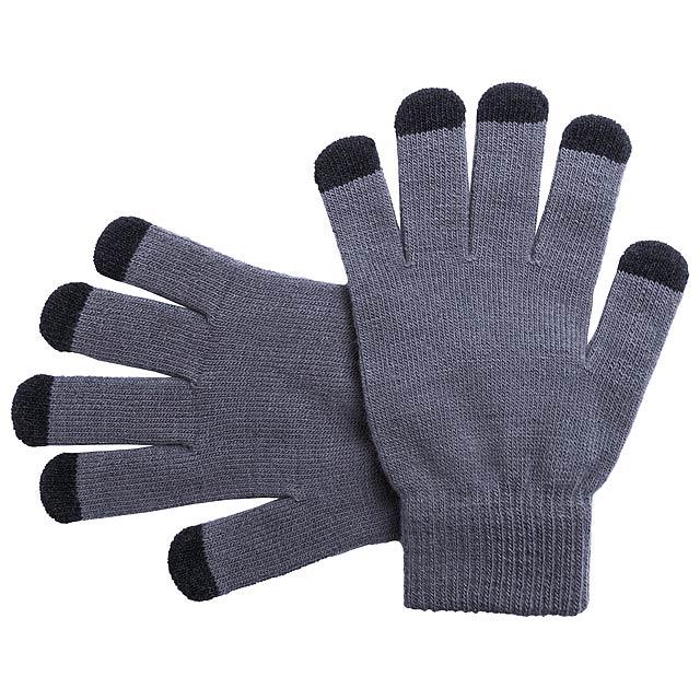Tellar dotykové rukavice - šedá
