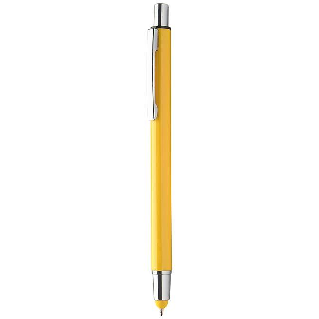 Rondex dotykové kuličkové pero - žlutá
