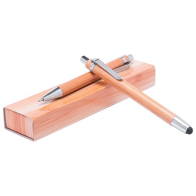 Heleon psací sada z bambusu - drevo