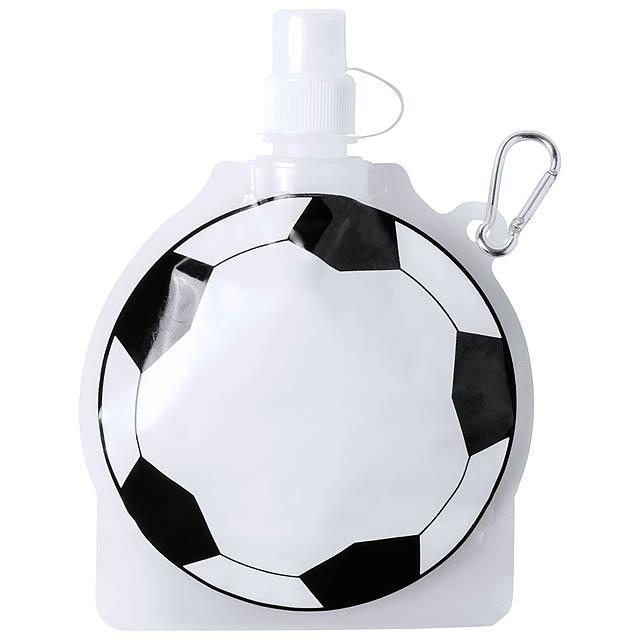 Sportovní PET láhev ve tvaru míče s karabinkou, 500 ml. Obsah: 500 ml - multicolor - foto