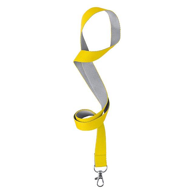 Tremen lanyard - žlutá
