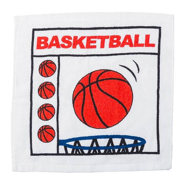 Slisovaný bavlněný ručník se sportovním motivem. - multicolor - foto