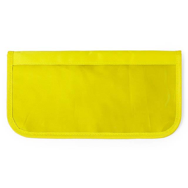 Rinok pouzdro na cetovní dokumenty - žlutá