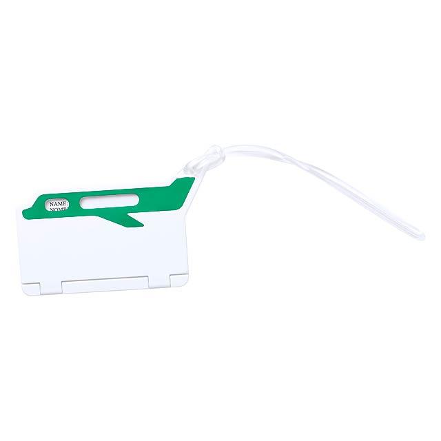 Mufix visačka na zavazadla - zelená