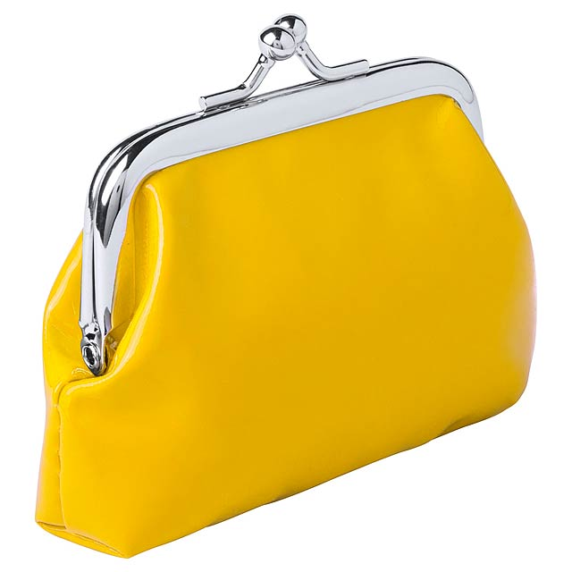Barevná peněženka z PVC. - žlutá - foto