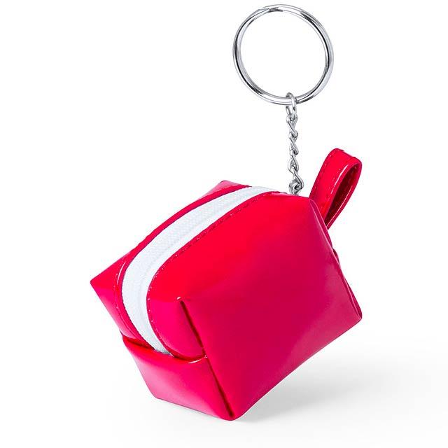 Darnex peněženka s přívěškem na klíče - červená