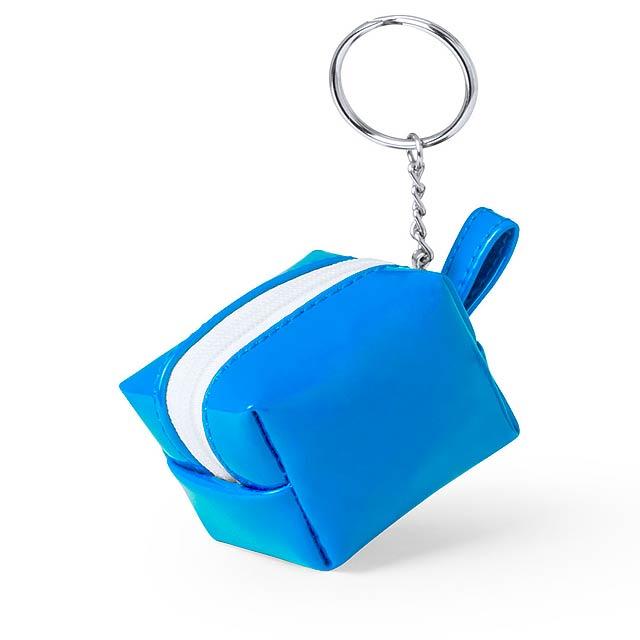 Darnex peněženka s přívěškem na klíče - nebesky modrá
