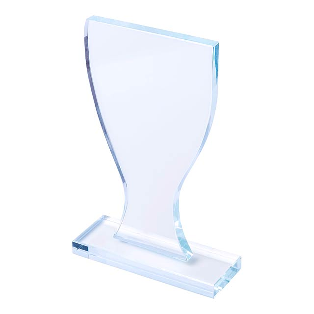 Skleněná trofej ve tvaru poháru v černé dárkové krabičce. - multicolor - foto