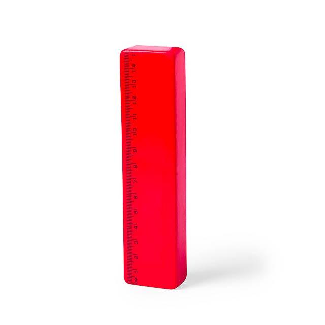 Redit antistresové pravítko - červená