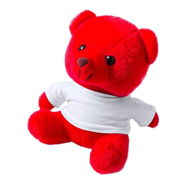 Alison plyšový medvídek - červená