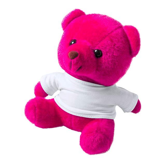 Alison plyšový medvídek - fuchsiová (tm. růžová)
