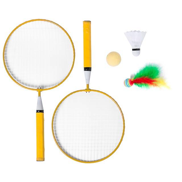 Dylam sada na badminton - žlutá