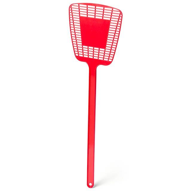 Trax plácačka na mouchy - červená