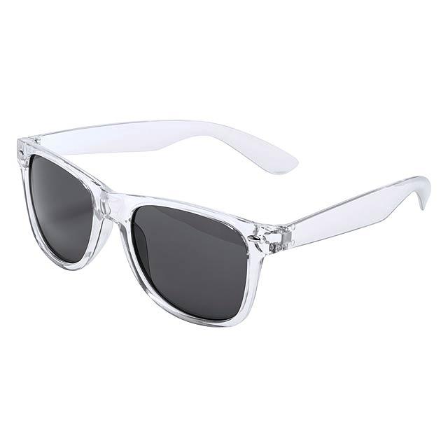 Musin sluneční brýle - transparentní bílá