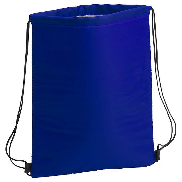 Chladící vak na stažení s hliníkovou vložkou, 210D polyester. - modrá - foto