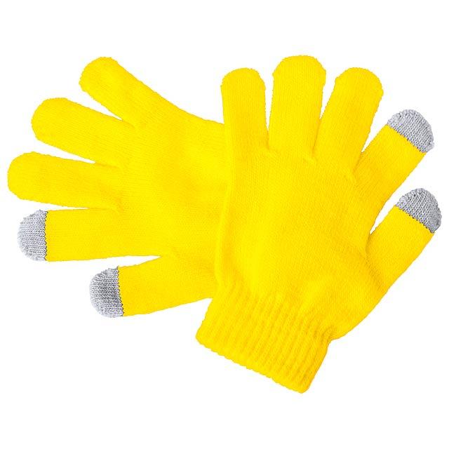 Pigun dotykové rukavice pro děti - žlutá