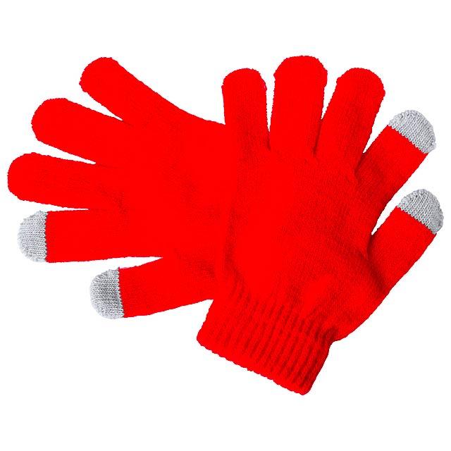 Pigun dotykové rukavice pro děti - červená