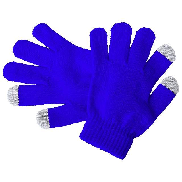 Pigun dotykové rukavice pro děti - modrá