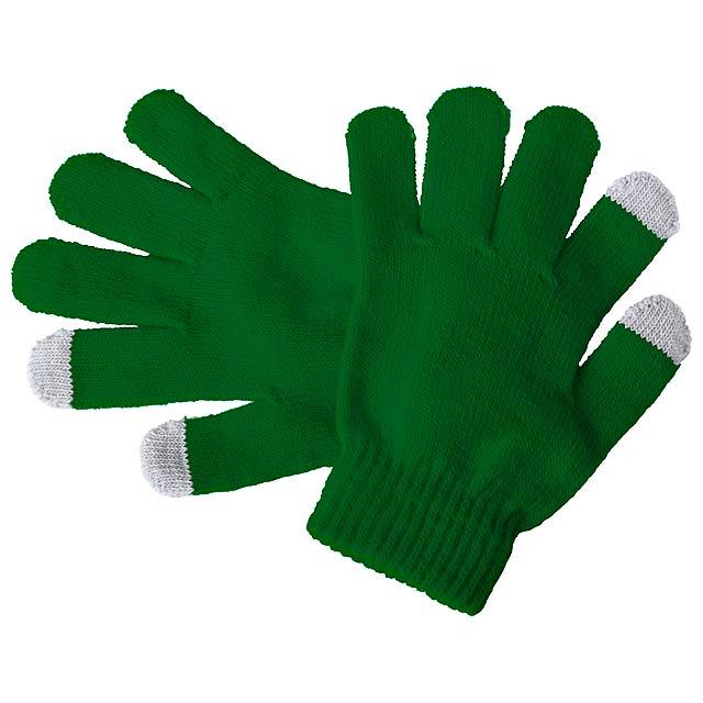 Pigun dotykové rukavice pro děti - zelená