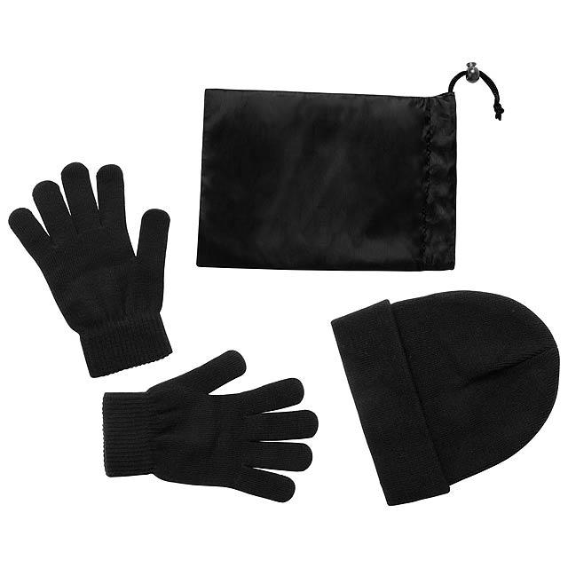 Duvel sada rukavice a čepice - černá