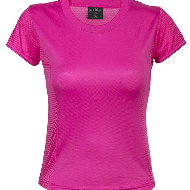 Prodyšné dámské tričko, 100% polyester, 135 g/m². - růžová - foto