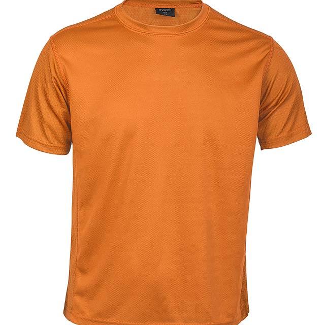 Prodyšné tričko pro děti, 100% polyester. - oranžová - foto