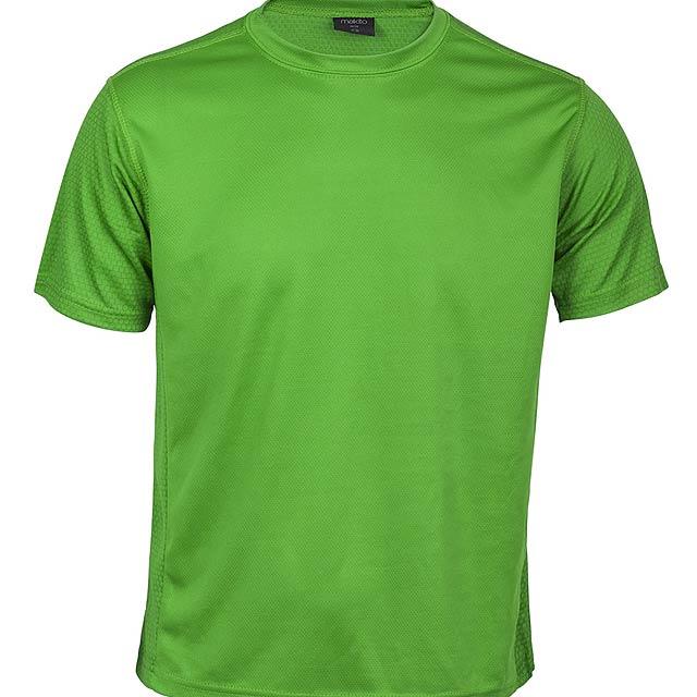 Prodyšné tričko pro děti, 100% polyester. - zelená - foto