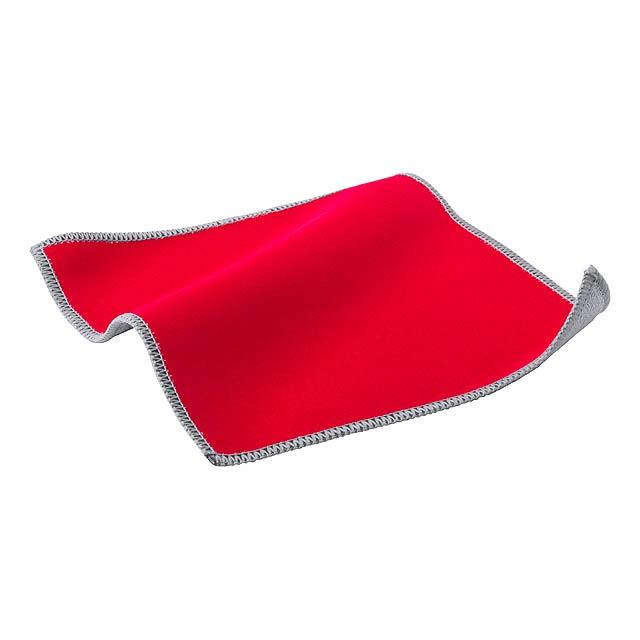 Crislax čistící hadřík na displeje - červená