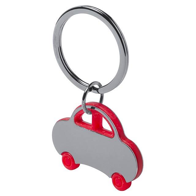 Rader přívěšek na klíče - červená