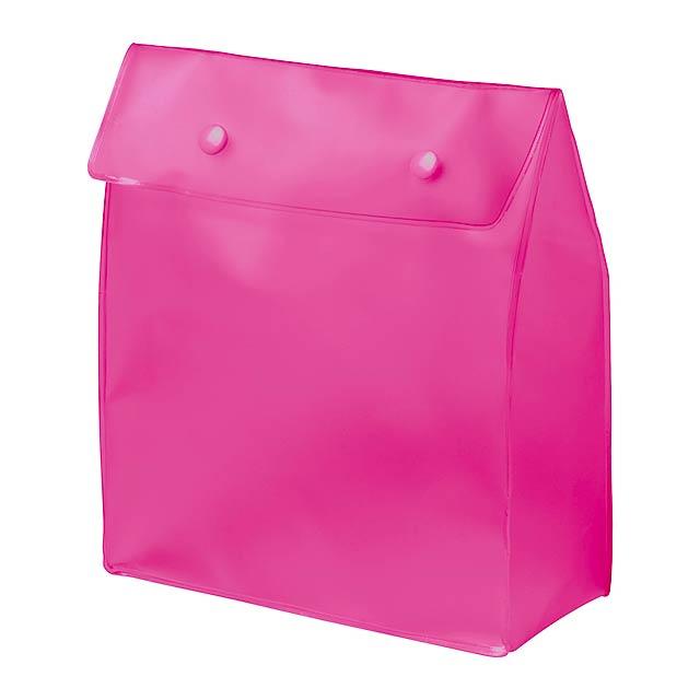 Claris kosmetická taška - fuchsiová (tm. růžová)