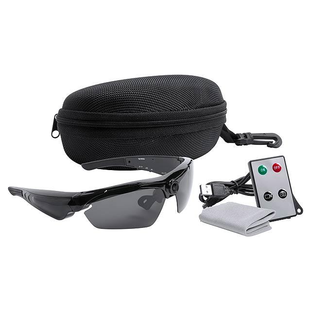 Smith sluneční brýle s kamerou - černá