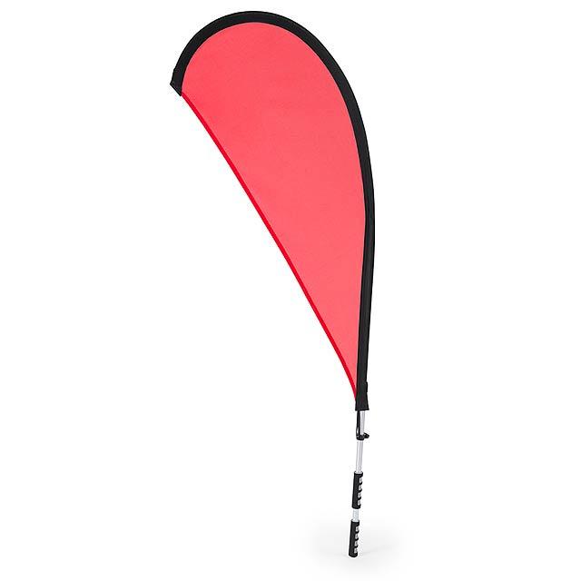 Heldex batoh na vlajku - červená