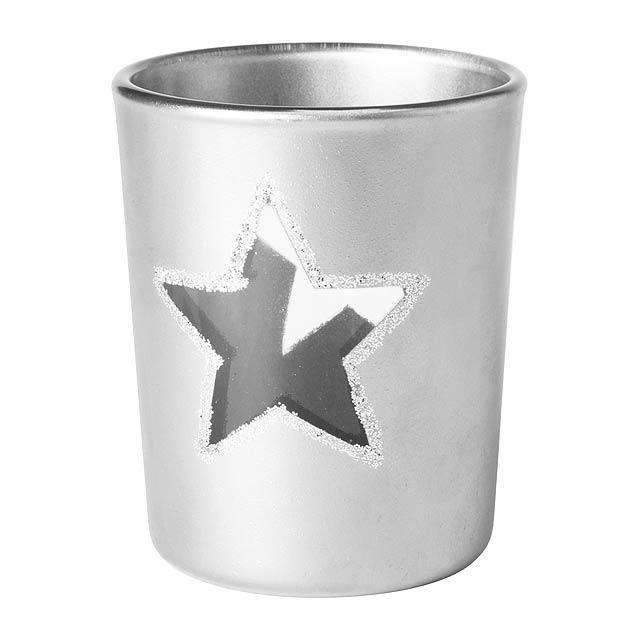 Zamir svíčka - stříbrná