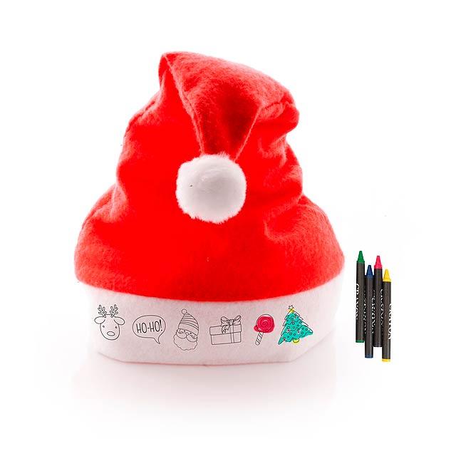 Rupler santovská čepice na vybarvení - červená