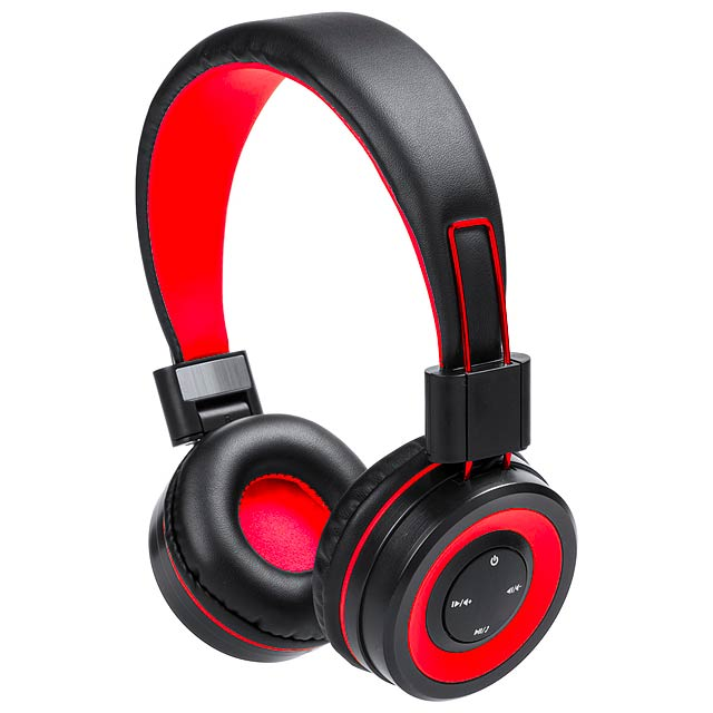Tresor bluetooth sluchátka - červená
