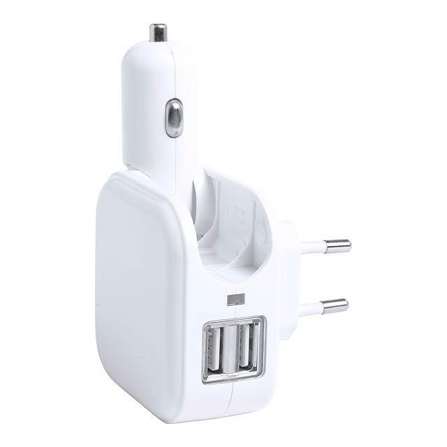 Dabol USB nabíječka do auta - bílá