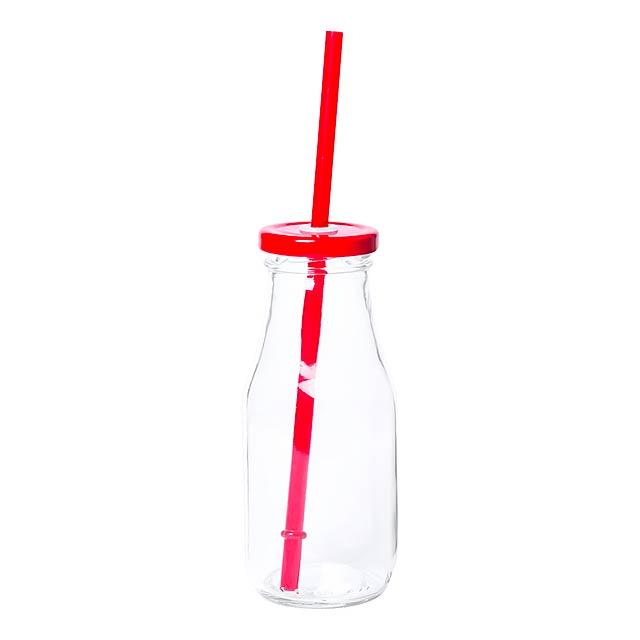Abalon sklenice na pití - červená