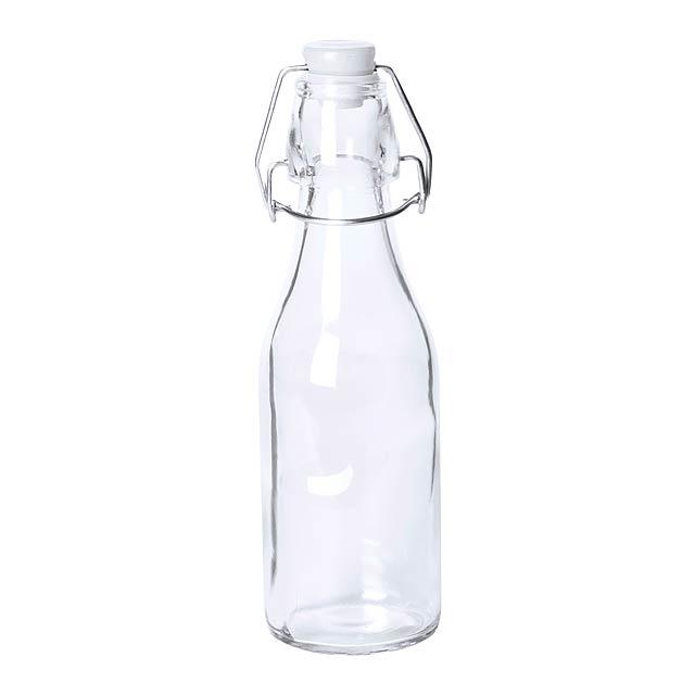 Haser skleněná láhev - bílá