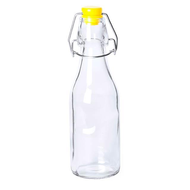 Haser skleněná láhev - žlutá