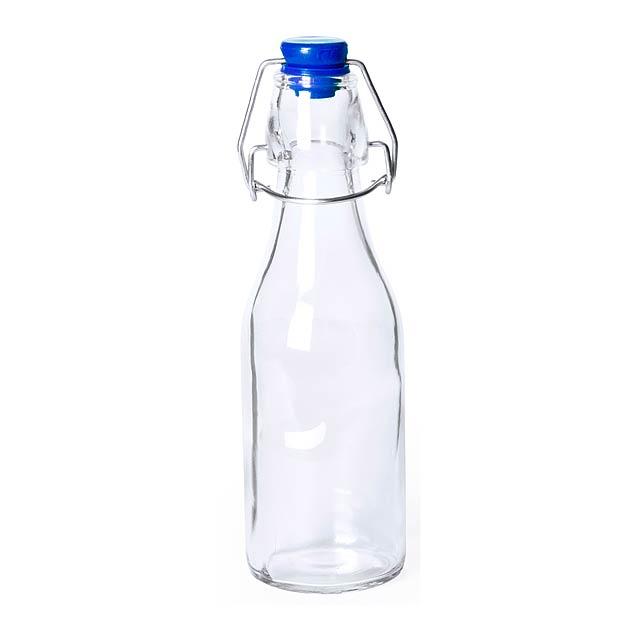 Haser skleněná láhev - modrá