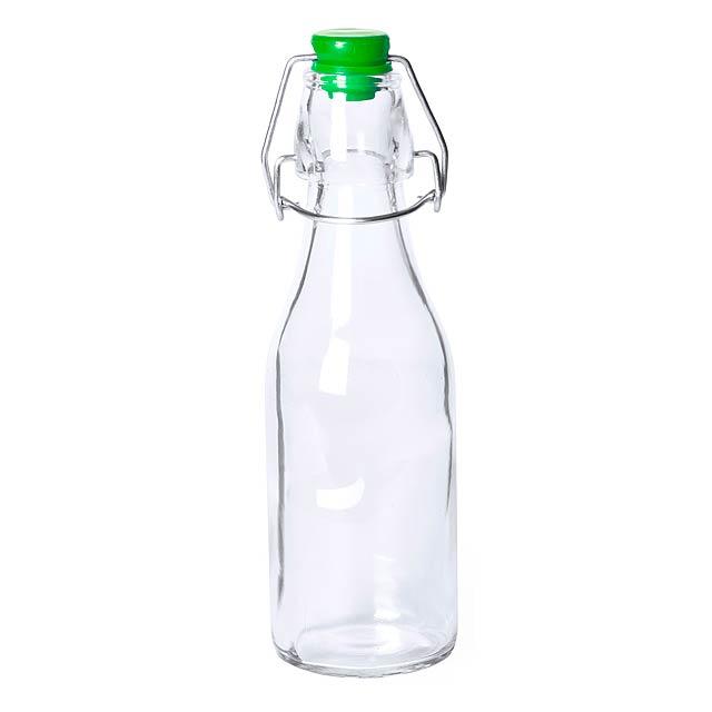Haser skleněná láhev - zelená