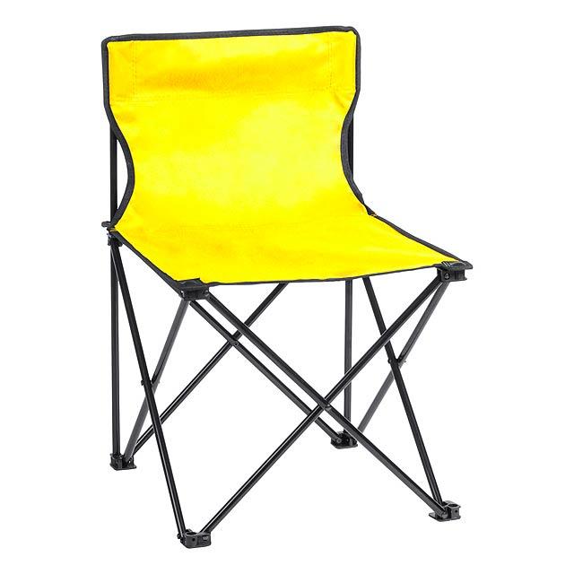 Flentul plážové křeslo - žlutá