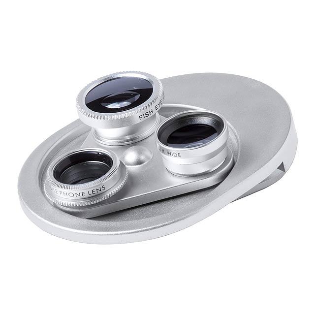 Bagly čočky na chytrý telefon - stříbrná