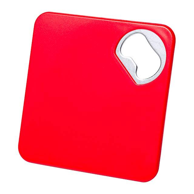 Olmux podtácek s otvírákem - červená