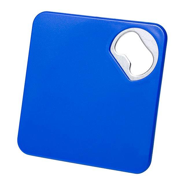 Olmux podtácek s otvírákem - modrá