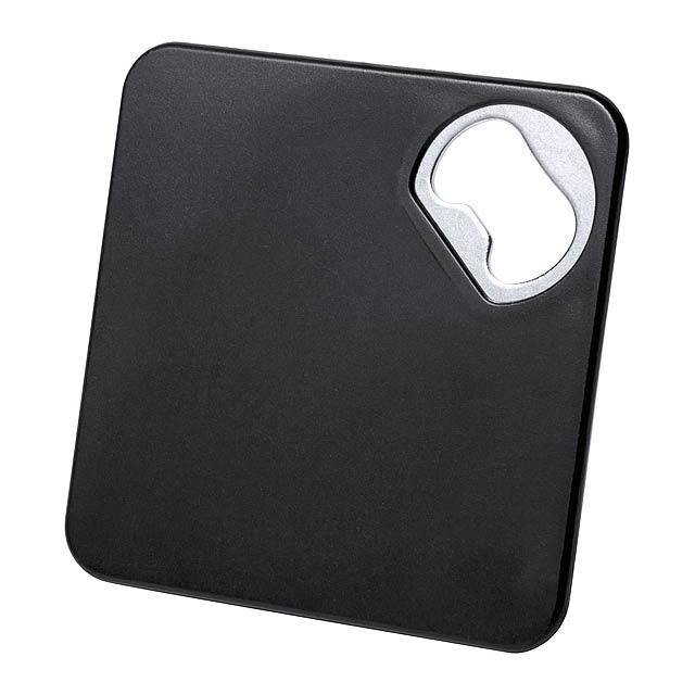 Olmux podtácek s otvírákem - černá