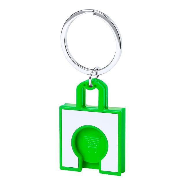 Fliant přívěšek na klíče se žetonem - zelená