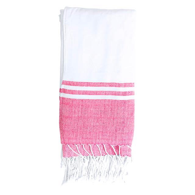 Minerva plážový ručník - červená