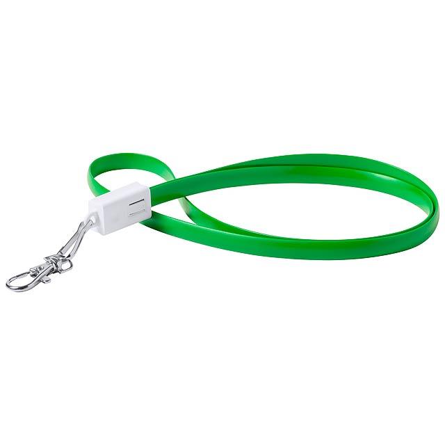 Doffer lanyard s USB typ-C - zelená